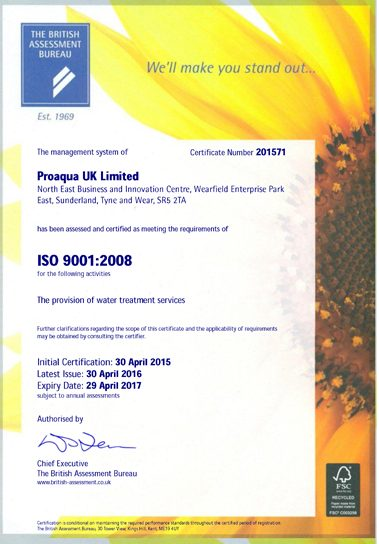 Proaqua UK Limited - ISO 9001_Page_1